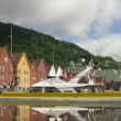 Old Hanseatic district Bryggen — Stock Video