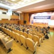 Stock Video: People sit in audience chamber at first annual Financial Forum Russias financial system future of post-crisis