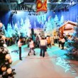 Pavilion at television studio is preparing to shoot Christmas TV shows — Stock Video