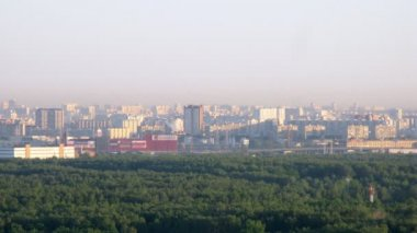 New day begins in Moscow, time lapse — Vídeo de Stock