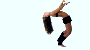 Young girl arching — Stock Video