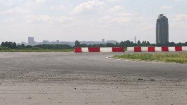 Drift racing on new highway MegaFon Tushino — Stock Video