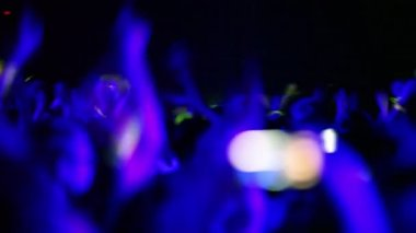 Spectators at rave party — Stock Video
