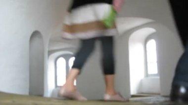 Passeren binnen rundetaarn toren, time-lapse — Stockvideo