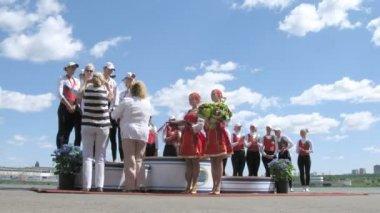 莫斯科大帆船赛颁奖仪式 — 图库视频影像