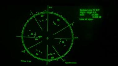 Skala på visning av oscilloskop — Stockvideo
