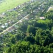 Flight above forest near Moscow in hot air balloon — Stock Video #29830237