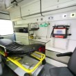 Stock Video: Ambulances compartment with modern equipment