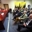 Stock Video: Chairmof Federation Council S.M. Mironov speak about law creation on meeting with journalists