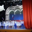Stock Video: Actors from RussiNational ballet Kostromleft to say goodbye to spectators