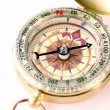 Golden vintage compass rotates — Stock Video #29831557