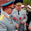 Ministry of Internal Affairs command speak near Kremlin — Stock Video