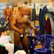 Bodybuilders prepare in cloakroom before Open Cup of bodybuilding and fitness of Moscow — Stock Video #29832409