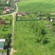 Flight above cottages near Moscow in hot air balloon — Stock Video #29832453