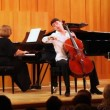 Stock Video: Narek Hakhnazaryplays cello, Gayane Hakhnazaryplays piano in Museum of Musical of Culture