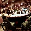 Work of croupier behind table in casino — Stok video