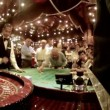Work of croupier behind table in casino — Vídeo Stock
