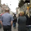 Crowded Stroget shopping area — Stock Video