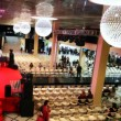Stock Video: People expect at fashion show at Evening of French fashion