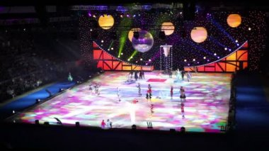 Ice Show - The Snow Queen, in the Luzhniki Stadium — Stock Video #29833007