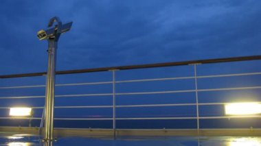 Binoculars on board of cruise liner, time lapse — Vidéo