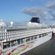 Cruise liners of NCL and AIDA cruise companies in port — ストックビデオ
