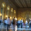 Stock Video: Tourist in City Hall golden room