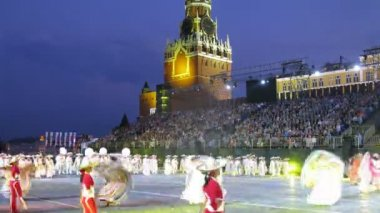 Demonstration performances orchestral collective of Mexico on festival SPASSKAYA BASHNYA — Stock Video