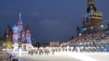 Performance national presidential orchestra of Ukraine on festival SPASSKAYA BASHNYA — Stock Video