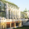 Stock Video: People walk in Palmenhaus which stands in Hofburg Palace park