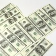 Hundred dollar banknotes appear and disappear from screen — Video Stock