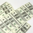Hundred dollar banknotes appear and disappear from screen — Video