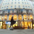 Stock Video: Tourists walk on central pedestristreet of Vienn- Kartner Strasse