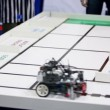 Stock Video: Referee watch on robot moves