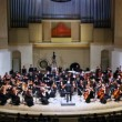 Conductor and Symphony Orchestra of Moscow State Conservatory named after P. Tchaikovsky — Vídeo Stock