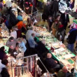 Stock Video: Many people walk at bijouterie market at VVC