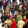 Crowd of people walk around — Vídeo de stock #30656923