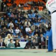 Sportsmen Zivic from Russia in dark blue and Mirco in white kimono fight at World Cup 2011 KUDO — Stock Video