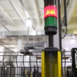 Safety light curtains, which signaling and stopping robot — Stock Video #30657427
