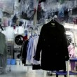 Stockvideo: Machine work among lot of clothes in dry cleaning