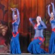 Participants on Bellydance Superiority of Moscow 2012 appear on scene — 图库视频影像