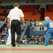 Two sportsmen kudo Ontgontseren from Mongolia and Wasinhal from India fight at World Cup 2011 KUDO — Stock Video