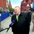 V.Zhirinovsky speak about russian and ally human loss at WWII and lend-lease, Red square — Stock Video