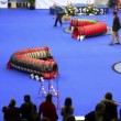 Master lead her dog during agility at International Dog Show Eurasia 2011 — Stock Video