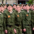 Stock Video: Paratroops rank march at Victory Parade