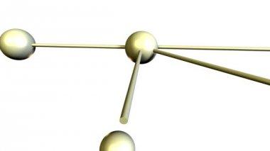 Přesunout prvky ve tvaru koule, tvoří buňky — Stock video