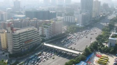 Motor transport has form traffic jam on highway — Stock Video