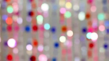 Blind cords from of colorful beads flickering — Stock Video