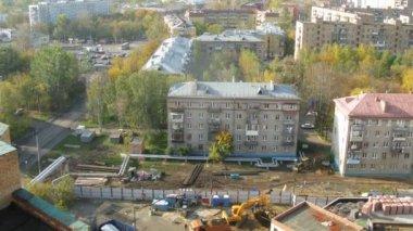 Building site in district Bogorodskoe in Moscow — Video Stock