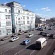 Lot of cars ride to Crimean Bridge in Moscow — Stock Video
